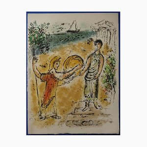 Marc Chagall - Athena and Telemachus - Original Lithograph 1975