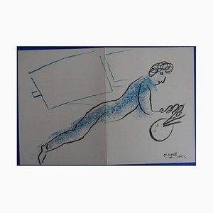 Marc Chagall - The Blue Painter - Original Lithograph 1968