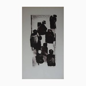 Lithographie Witold K - To the Market - 1966