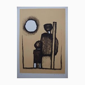 Witold K - In Front of the Sun - Original Lithograph 1967