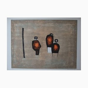 Witold K - Three Characters - Original Lithograph 1967