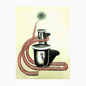 Konrad Klapheck - Original Lithografie 1976