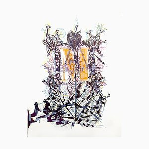 Lithographie de Jean-Paul Riopelle 1976