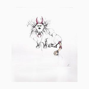 Leonor Fini - Chat Magique - Gravure Originale 1985