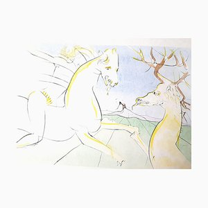 Salvador Dali - The Rider and the Deer - Signierter Stich 1974