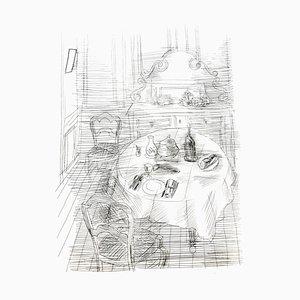 Raoul Dufy - Französisches Dinner - Originale Radierung 1940
