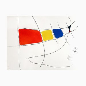 Joan Miro - L'Issue Dérobée - Original Aquatint 1974