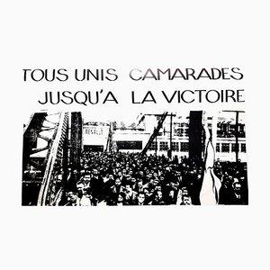 Poster Mai 68 Original Français - Together Until the Victory - Mai 68