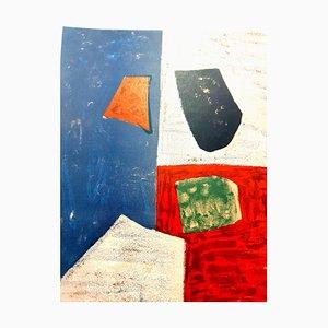 Composition Abstraite Colorée - Lithographie 1958