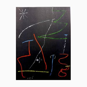 Joan Miro (After) - Pochoir Pour 'XX Siecle'- Abstract Stencil 1958
