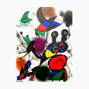 Joan Miro - Original Abstract Lithograph from the book ''Miro Lithographe III'' 1976