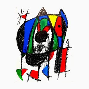 Joan Miro - Original Abstract Lithograph 1975