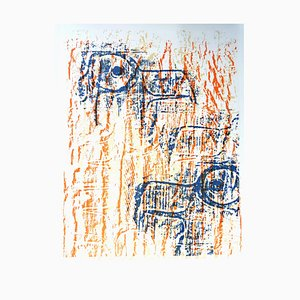 Litografia Max Ernst - Uccelli - 1964