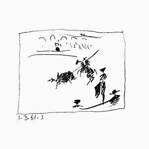 Pablo Picasso - La Pique, de '' A los Toros avec Picasso '' - Litografía original 1961