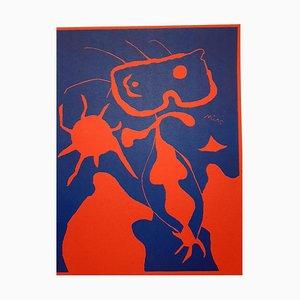 Linogravure sur Papier Miroir Joan Miro - Mars 1938
