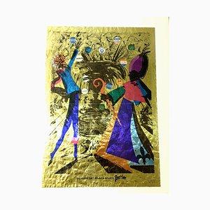 Salvador Dali - Perrier - Lithographisches Vintage Plakat 1970