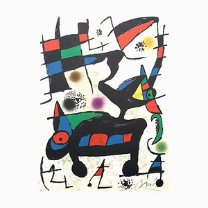 Joan Miro - Abstract Composition - Original Handsigned Lithograph 1973
