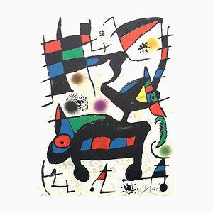 Joan Miro - Abstrakte Komposition - Original Handsignierte Lithographie 1973