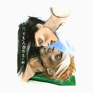 Lithographie Enki Bilal - The Kiss - Lithographie Originale 2012