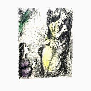 Gravure à l'Eau Forte originale de Marc Chagall - Bath-Sheba at the Feet of David