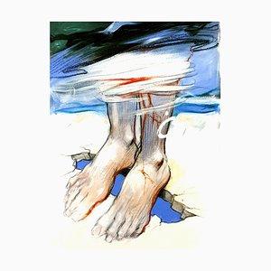 Lithographie Enki Bilal - Pieds - Original 2012