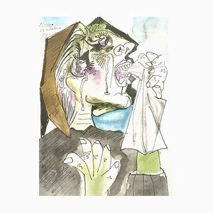 Litografía 1946 de Pablo Picasso (after) - Weeping Woman - Lithograph