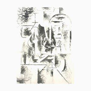 Pablo Picasso (après) - Homme avec Pipe - Lithographie 1946