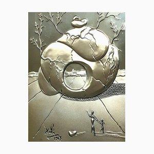 Salvador Dali - Universal Harmony - Bas Relief Silver Sculpture 1977
