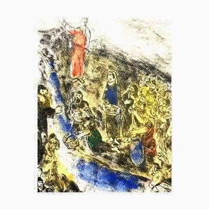 Marc Chagall - Agua de la agua de Moisés llamativa - Original Handsigned Etching 1958
