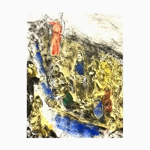 Marc Chagall - Moses Striking Water from the Rock - Originale Handsignierte Radierung 1958