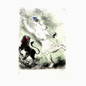 Marc Chagall - David and the Lion- Original Handsignierte Radierung 1958