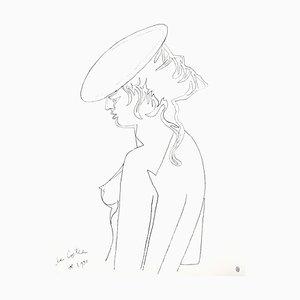 Lithographie Jean Cocteau - Woman's Profile