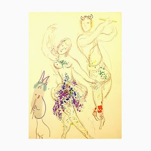 Lithographie Marc Chagall - Dahnis and Chloé - 1969