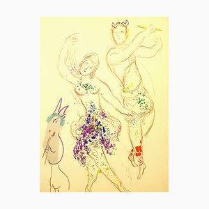 Marc Chagall - Dahnis and Chloé - Original Lithografie 1969