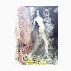Leonor Fini - Walking on Death - Original 1964