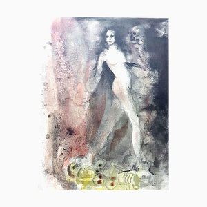 Lithographie Leonor Fini - Walking on Death - Lithographie Originale, 1964