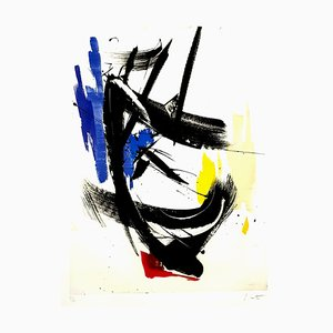Jean Miotte - Abstract Composition - Original Signed Lithograph 1990