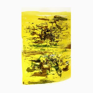 Zao Wou-ki - Original Lithograph - Abstract Composition 1962