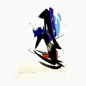 Jean Miotte - Abstrakte Komposition - Signierte Originale Lithographie 1990