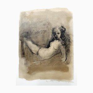Lithographie Leonor Fini - Thinking - Original Lithograph 1964