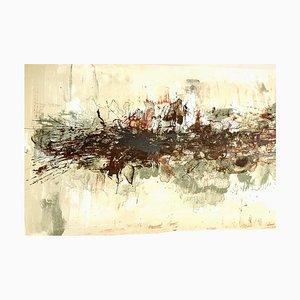 Zao Wou-ki - Originale Lithographie - Abstract Composition 1962