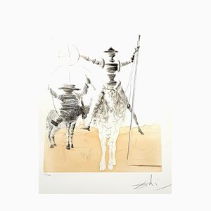Salvador Dali - Don Quixote and Sancho - Original Hand Signed Etching 1980