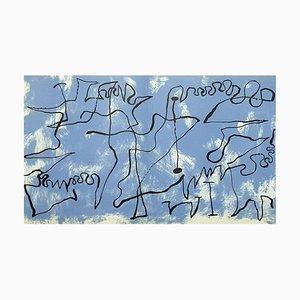 Joan Miro - Blue Maze - Original Lithograph 1956