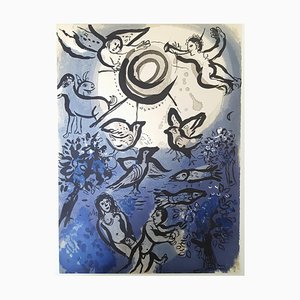 Marc Chagall - The Bible - Adam and Eve - Original Lithograph 1960