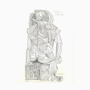 Pablo Picasso - Sitzende Frau - Original Radierung 1943