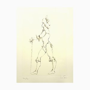 Leonor Fini - The Cane - Original Handsignierte Lithografie 1986