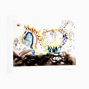 Salvador Dali - Sea Horse - Original Handsigned Lithograph 1972