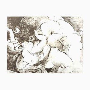 Litografia Pablo Picasso (after) - Minotaur 1946