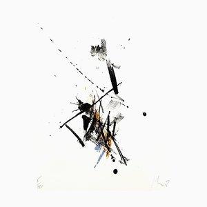 Jean Miotte - Abstrakte Komposition - Signierte Originale Lithografie 1972