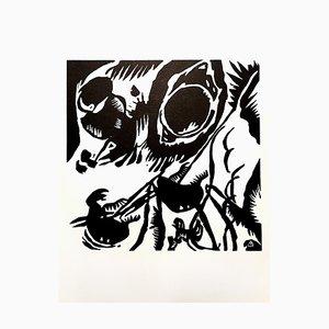 Wassily Kandinsky (nachher) - Composition - Woodcut 1959